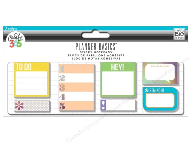Me&My Big Ideas Create 365 Happy Planner Sticky Notes Neon