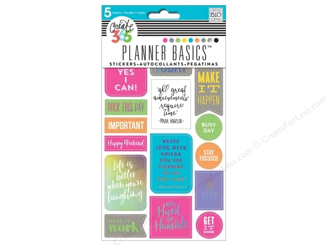 Me&My Big Ideas Create 365 Happy Planner Sticker Rock This Day Neon