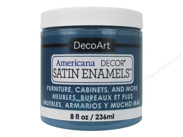DecoArt Americana Decor Satin Enamel Paint 8 oz. True Teal