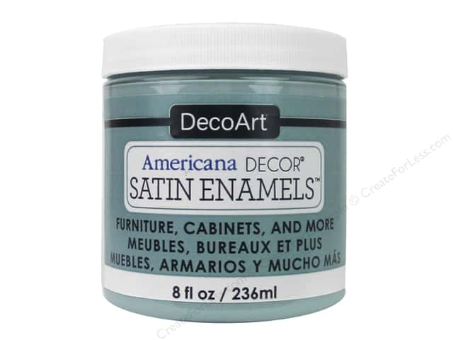 DecoArt Americana Decor Satin Enamel Paint 8 oz. Seaside Blue