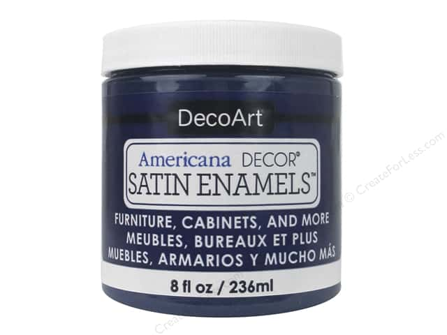 DecoArt Americana Decor Satin Enamel Paint 8 oz. Dark Denim