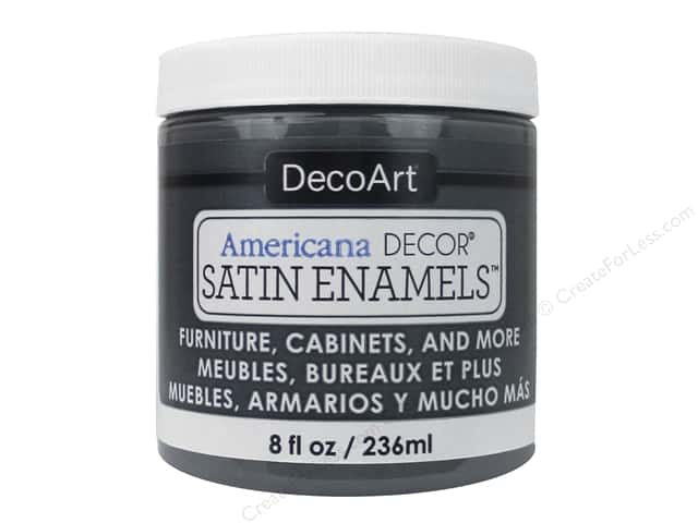 DecoArt Americana Decor Satin Enamel Paint 8 oz. Charcoal Grey
