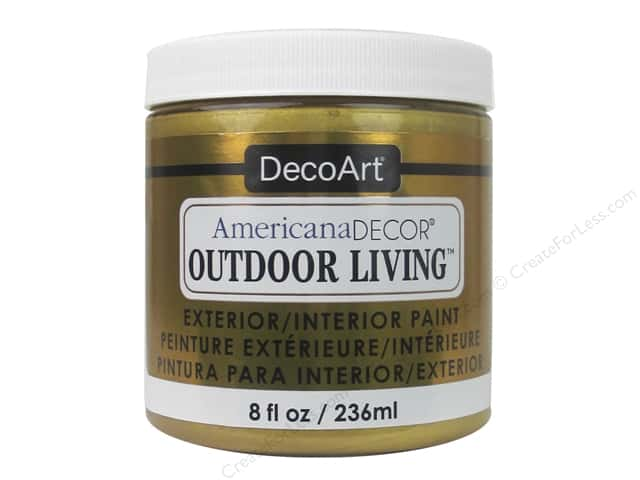 DecoArt Americana Decor Outdoor Living Exterior/Interior Paint 8 oz. Gold