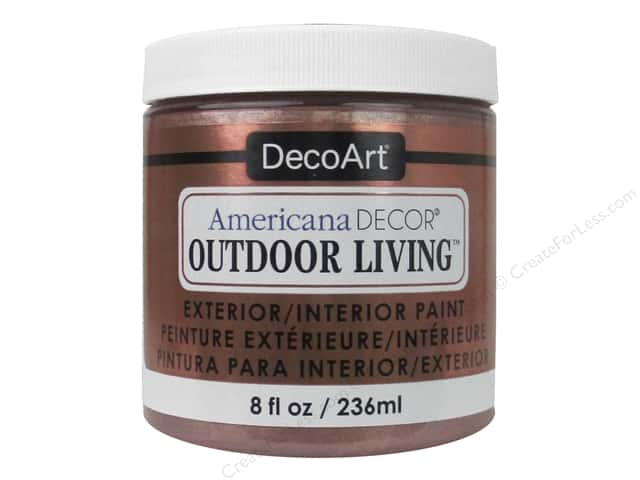 DecoArt Americana Decor Outdoor Living Exterior/Interior Paint 8 oz. Metallic Rose Gold