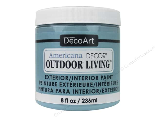 DecoArt Americana Decor Outdoor Living Exterior/Interior Paint 8 oz. Turquoise Sky