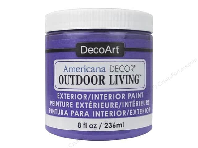 DecoArt Americana Decor Outdoor Living Exterior/Interior Paint 8 oz. Pansy
