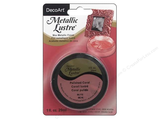 DecoArt Metallic Lustre 1 oz. Polished Coral