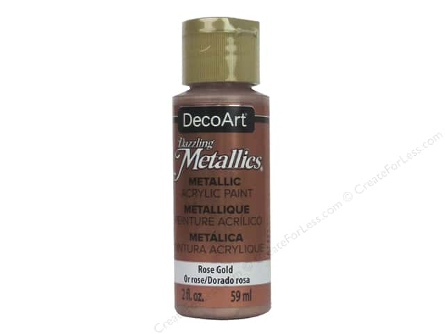 DecoArt Dazzling Metallics Acrylic Paint 2 oz. Rose Gold