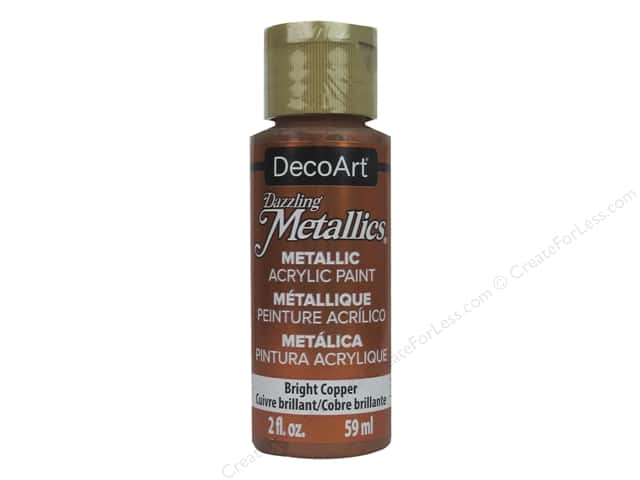 DecoArt Dazzling Metallics Acrylic Paint 2 oz. Bright Copper