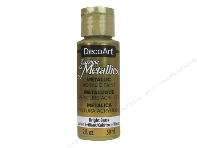 DecoArt Dazzling Metallics Acrylic Paint 2 oz. Bright Brass