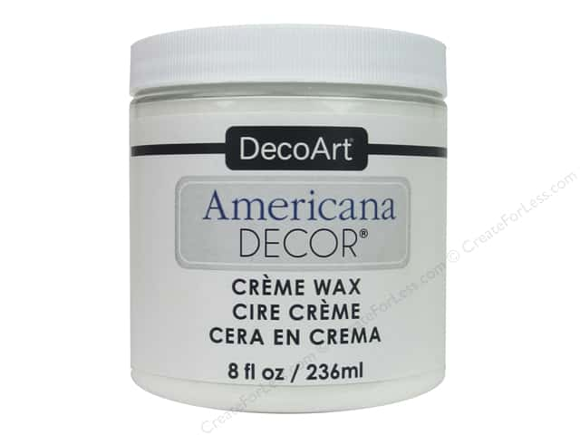 DecoArt Americana Decor Creme Wax 8 oz. White
