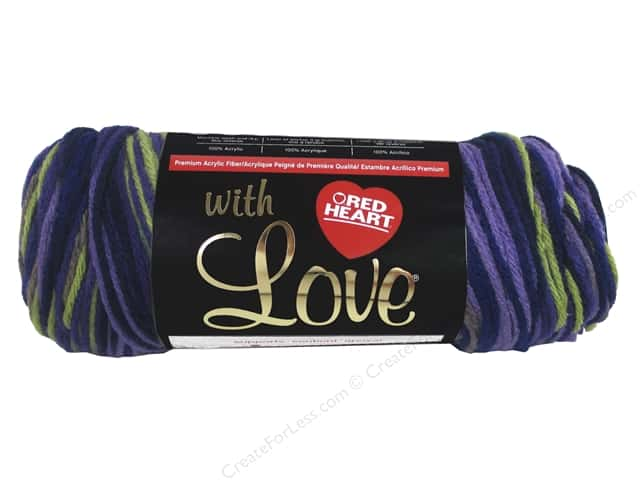 Red Heart With Love Yarn 230 yd. #1948 Lavender Ivy