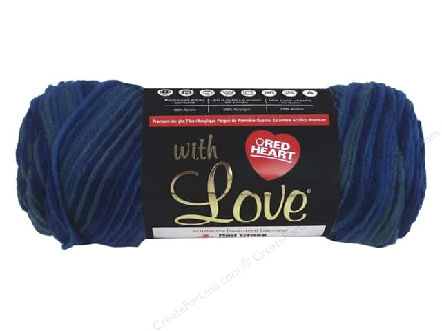 Red Heart With Love Yarn #1931 Cerulean 230 yd.