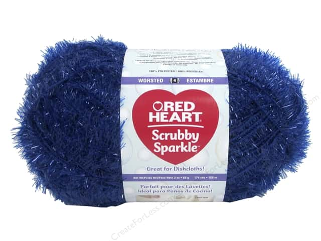 Red Heart Scrubby Sparkle Yarn 174 yd. #8830 Blueberry