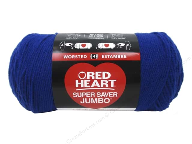 Red Heart Super Saver Jumbo Yarn 744 yd. #0385 Royal
