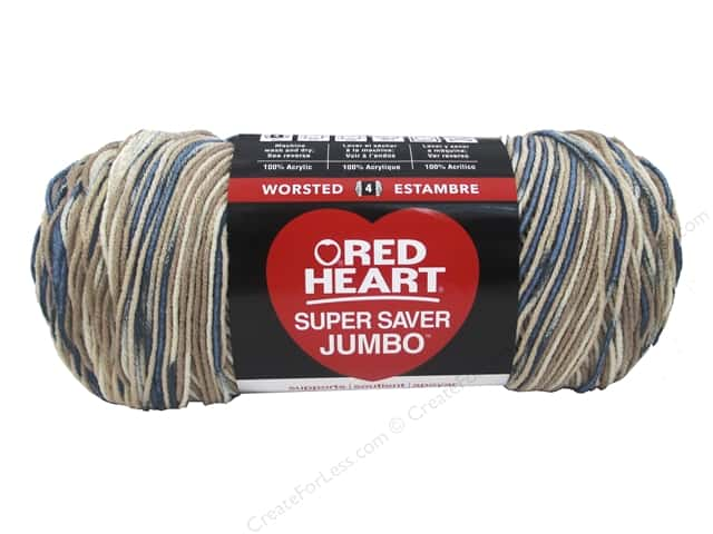 Red Heart Super Saver Jumbo Yarn 482 yd. #0301 Mirage