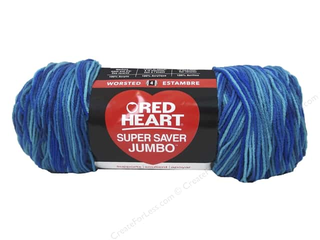 Red Heart Super Saver Jumbo Yarn 482 yd. #3944 Macaw