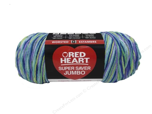 Red Heart Super Saver Jumbo Yarn #3955 Wildflower 482 yd.