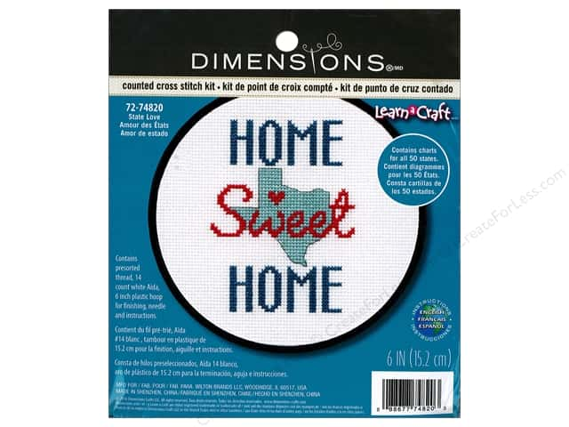 Dimensions Cross Stitch Kit State Love