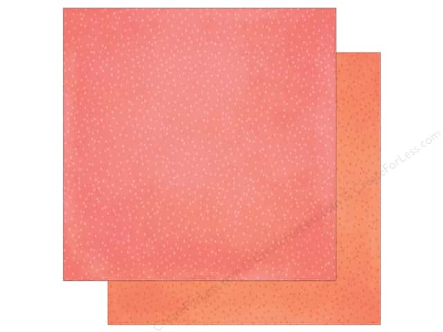 Simple Stories 12 x 12 in. Paper The Reset Girl Pink/Coral Speckle (25 sheets)