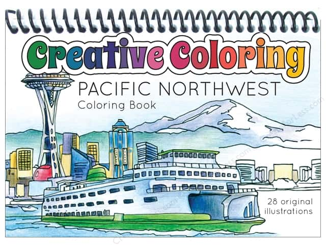 Paper Accents Creative Coloring Pocket Coloring Book Pacific Northwest