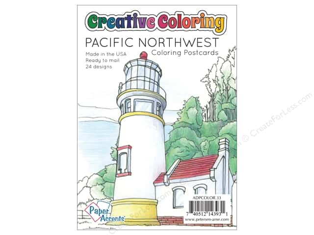 Paper Accents Creative Coloring Postcards 24 pc. Pacific Northwest