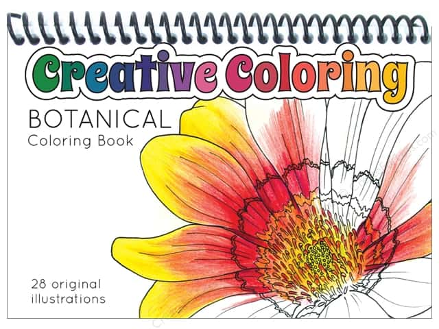 Paper Accents Creative Coloring Pocket Coloring Book Botanical