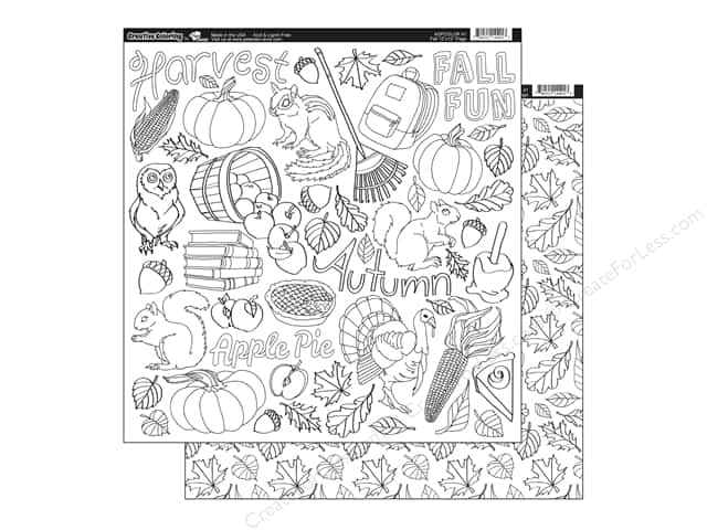 Paper Accents Creative Coloring Paper 12 x 12 in. Fall (15 sheets)