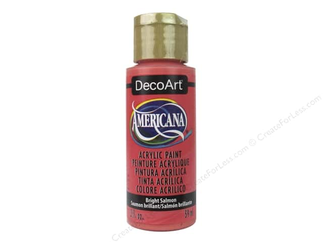 DecoArt Americana Acrylic Paint 2 oz. Bright Salmon