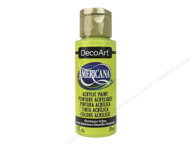 DecoArt Americana Acrylic Paint 2 oz. Chartreuse Yellow