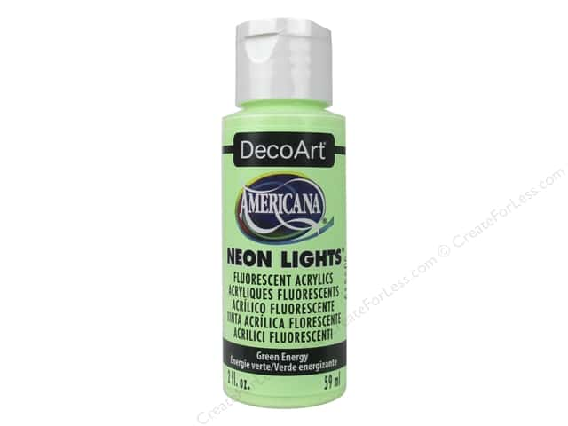 DecoArt Americana Acrylic Paint Neon Lights 2oz Green Energy