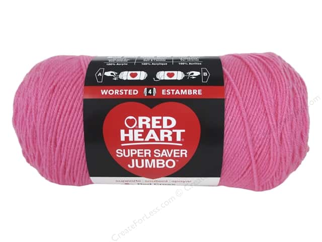 Red Heart Super Saver Jumbo Yarn #0706 Perfect Pink 744 yd.