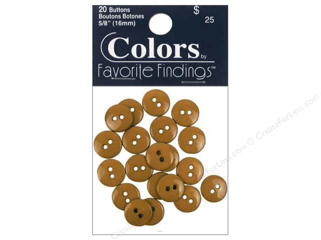 Crafting With Buttons Colors Button 5/8 in. Parchment 20 pc.