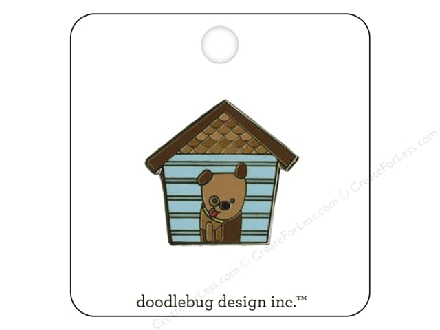 Doodlebug Enamel Pin Puppy Love Happy Home