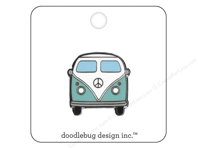 Doodlebug Enamel Pin Fun In The Sun Beach Bus
