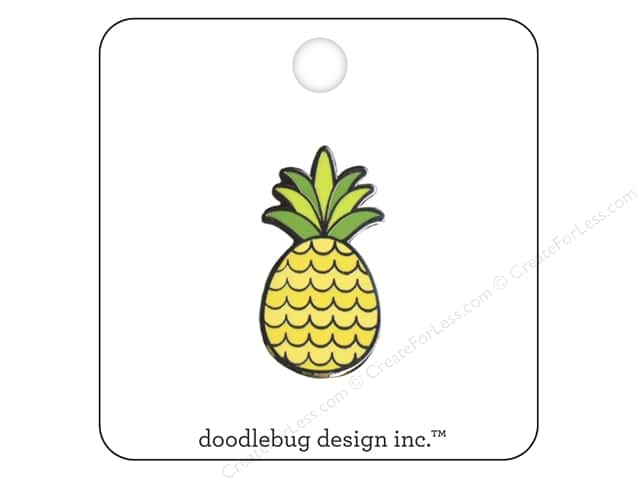 Doodlebug Enamel Pin Fun In The Sun Pineapple Crush