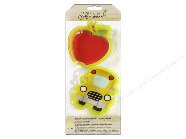 American Crafts Sweet Sugarbelle Cookie Cutter Set Back To School