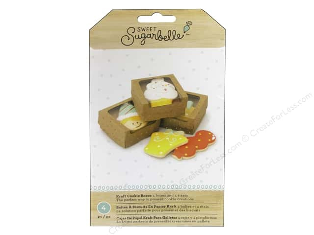 American Crafts Sweet Sugarbelle Single Cookie Box Kraft & Gold 4 pc.