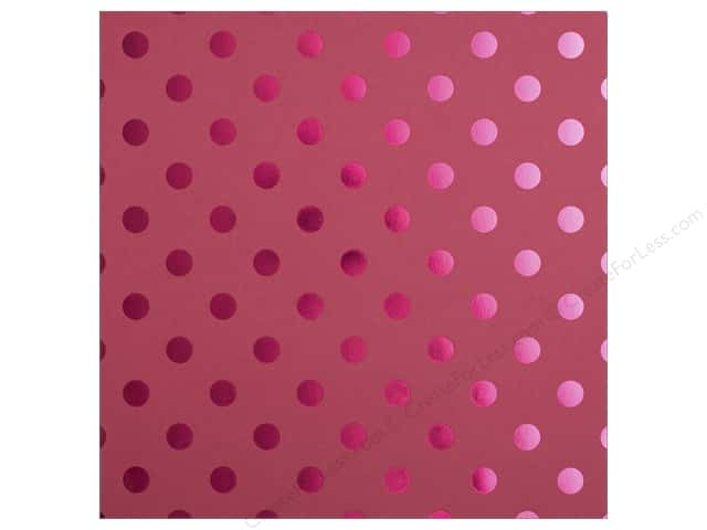Bazzill 12 x 12 in. Cardstock Foil Tone On Tone Lollipop (25 sheets)