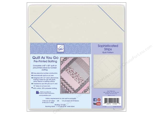 June Tailor Batting Quilt As You Go Cotton Sophisticated Strips