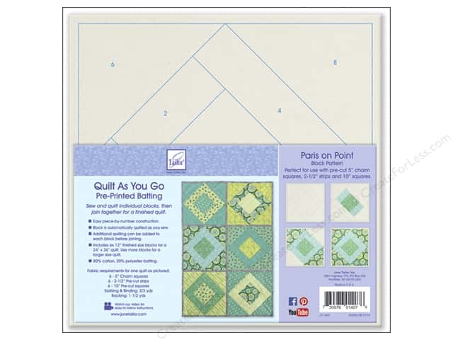 June Tailor Kit Quilt As You Go Cotton/Polyester Paris On Point