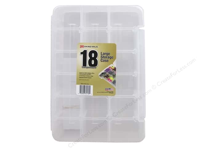Akro-Mils Storage Case Organizer 14 1/4 x 9 1/2 in. 18 Compartment