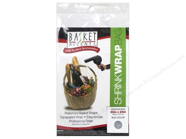 Basket Accents Shrink Wrap Bag Medium Clear