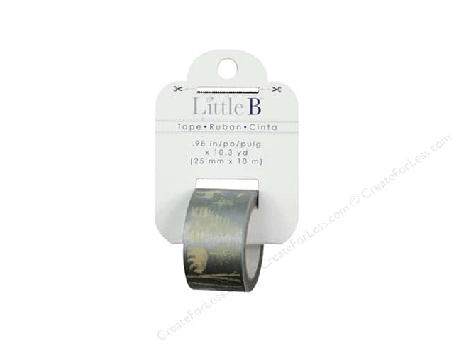 Little B Decorative Paper Tape 1 in. Metallic Winter Nature