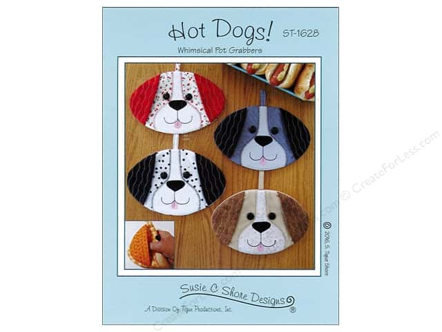 Susie C Shore Hot Dogs! Whimsical Pot Grabbers Pattern