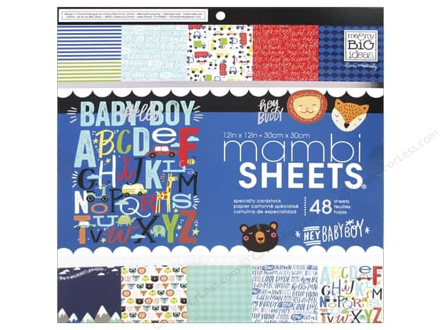 "MAMBI Sheets Cardstock Pad 12""x 12"" Baby Boy Dreams"