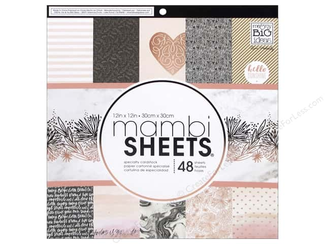 MAMBI Sheets Cardstock Pad 12 in. x 12 in. Rose Gold
