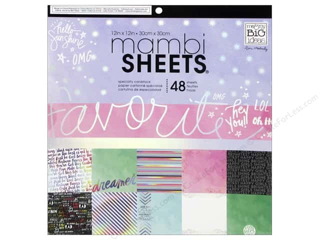 MAMBI Sheets Cardstock Pad 12 in. x 12 in. Rainbow Foil