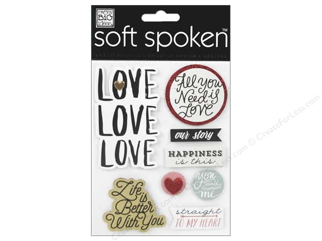 Me&My Big Ideas Sticker Soft Spoken Love Love Love (3 sets)