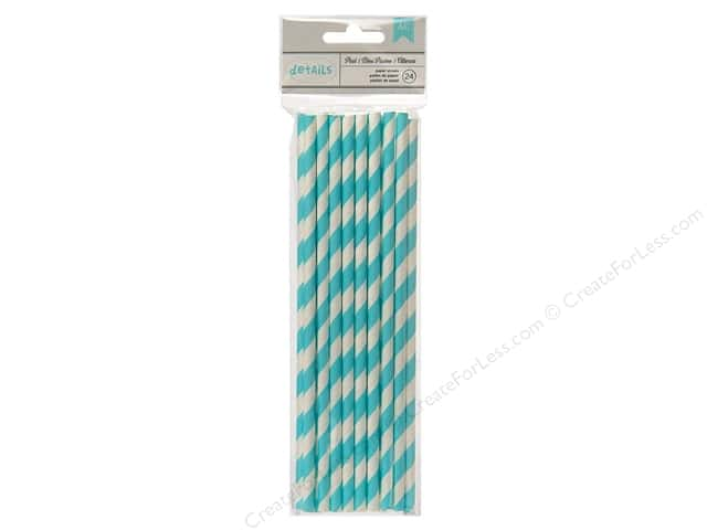 American Crafts Details Lined Paper Straws 24 pc. Pool